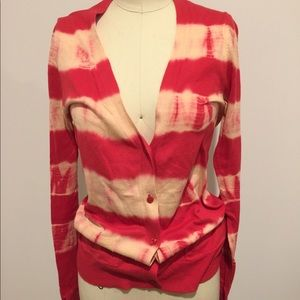Tie-dye striped cardigan (Forever21)